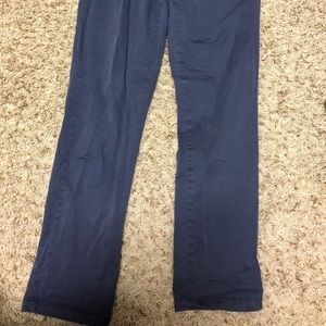 Pants - Blue crop boot cut pants